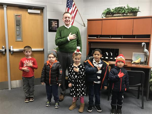 Dr. Doelger and Students on Halloween
